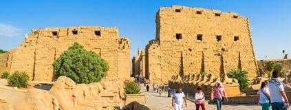 Πανόραμα του ναού Karnak Στοκ Εικόνες