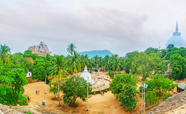 Πανόραμα του ναού Mihintale Στοκ Φωτογραφία