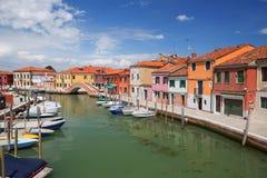 Πανόραμα του νησιού Murano, μικρό χωριό κοντά στη Βενετία στοκ φωτογραφίες