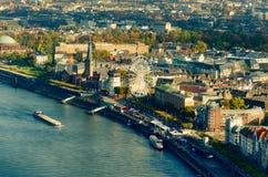 Πανόραμα του Ντίσελντορφ Στοκ φωτογραφίες με δικαίωμα ελεύθερης χρήσης