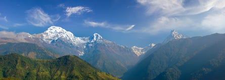 Πανόραμα του νότιου προσώπου του Annapurna Himal Στοκ εικόνα με δικαίωμα ελεύθερης χρήσης