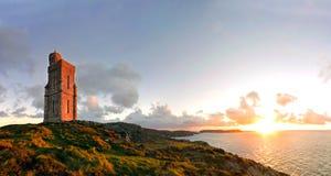 Πανόραμα του νότου του Isle of Man. Πύργος Milner στοκ εικόνα με δικαίωμα ελεύθερης χρήσης