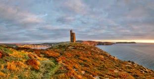 Πανόραμα του νότου του Isle of Man. Πύργος Milner στοκ εικόνες με δικαίωμα ελεύθερης χρήσης