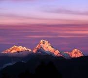 Πανόραμα του νότου Annapurna υποστηριγμάτων, Νεπάλ Στοκ Φωτογραφία