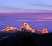 Πανόραμα του νότου Annapurna υποστηριγμάτων, Νεπάλ Στοκ φωτογραφία με δικαίωμα ελεύθερης χρήσης
