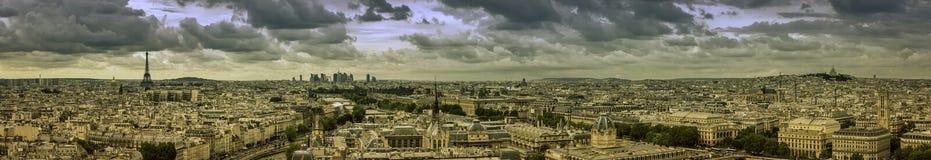 Πανόραμα του Παρισιού Στοκ Φωτογραφία