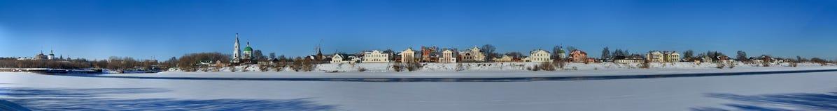 Πανόραμα του ποταμού Βόλγας σε Tver Στοκ φωτογραφίες με δικαίωμα ελεύθερης χρήσης
