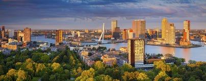Πανόραμα του Ρότερνταμ Στοκ Φωτογραφία