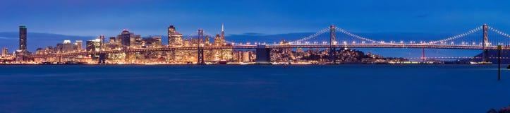 Πανόραμα του Σαν Φρανσίσκο Στοκ Φωτογραφίες