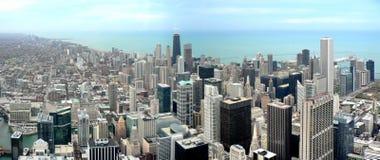 πανόραμα του Σικάγου Στοκ Φωτογραφία