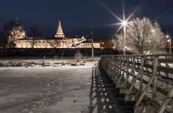 Πανόραμα του Σούζνταλ Κρεμλίνο Σούζνταλ εκκλησιών σπιτιών πανοράματος suzdal πόλης vladimir άσπρος ξύλινος τοπίου της Ρωσίας περι Στοκ εικόνες με δικαίωμα ελεύθερης χρήσης