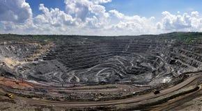 Πανόραμα του υπαίθριου ορυχείου Στοκ φωτογραφίες με δικαίωμα ελεύθερης χρήσης
