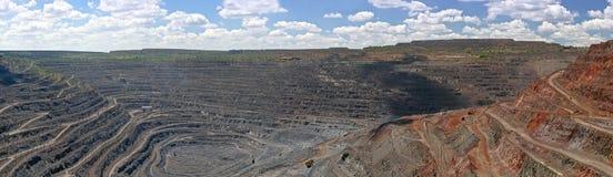 Πανόραμα του υπαίθριου ορυχείου Στοκ φωτογραφία με δικαίωμα ελεύθερης χρήσης