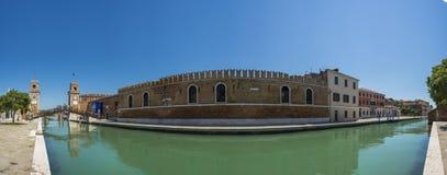 Πανόραμα του Arsenale Ιταλία Βενετία Στοκ φωτογραφία με δικαίωμα ελεύθερης χρήσης