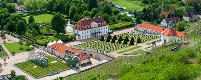 Πανόραμα του Castle Wackerbarth, Radebeul Στοκ Εικόνες