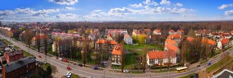 Πανόραμα του Gliwice, Πολωνία Στοκ εικόνες με δικαίωμα ελεύθερης χρήσης