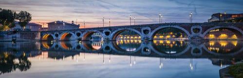 Πανόραμα του Pont-Neuf στην Τουλούζη Στοκ Φωτογραφία