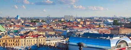 Πανόραμα του ST Πετρούπολη από τον καθεδρικό ναό του Isaac στοκ φωτογραφίες