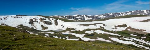 Πανόραμα των βουνών Beartooth, Ουαϊόμινγκ στοκ εικόνες με δικαίωμα ελεύθερης χρήσης