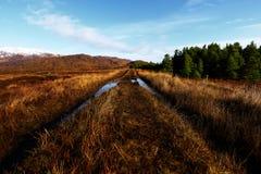 Πανόραμα των βουνών Bluestack Donegal Ιρλανδία με μια λίμνη στο μέτωπο Στοκ εικόνες με δικαίωμα ελεύθερης χρήσης