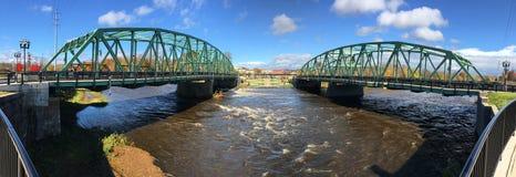 Πανόραμα των δίδυμων γεφυρών σε Westfield, Μασαχουσέτη στοκ εικόνα με δικαίωμα ελεύθερης χρήσης