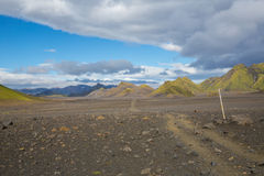 Πανόραμα των ισλανδικών βουνών Στοκ Φωτογραφίες