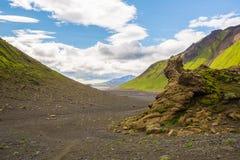 Πανόραμα των ισλανδικών βουνών Στοκ εικόνα με δικαίωμα ελεύθερης χρήσης