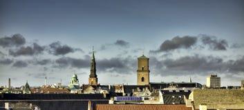 Κορυφές στεγών της Κοπεγχάγης, Δανία Στοκ εικόνα με δικαίωμα ελεύθερης χρήσης