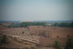 Πανόραμα των μερικώς αποκατεστημένων καταστροφών Babylon, Hillah, Ιράκ στοκ φωτογραφίες με δικαίωμα ελεύθερης χρήσης