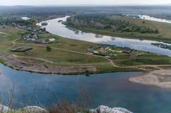 Πανόραμα των ποταμών Belaya και Sim Στοκ Εικόνες