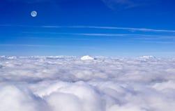 Πανόραμα των σύννεφων από το αεροπλάνο Στοκ φωτογραφία με δικαίωμα ελεύθερης χρήσης