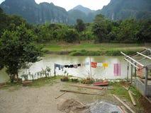 Πανόραμα των verdant λόφων στη Νοτιοανατολική Ασία Στοκ Φωτογραφίες