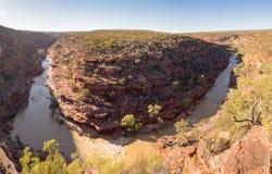 Πανόραμα φαραγγιών κάμψεων Ζ, εθνικό πάρκο Kalbarri, δυτική Αυστραλία Στοκ φωτογραφίες με δικαίωμα ελεύθερης χρήσης