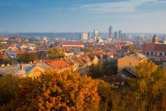 Πανόραμα φθινοπώρου Vilnius Λιθουανία Στοκ Φωτογραφία