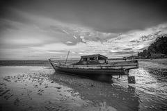 Πανόραμα φωτογραφιών BlackWhite του θαυμάσιου bintan νησιού batam στοκ φωτογραφίες