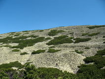 Πανόραμα όμορφοι λόφοι με τις μεγάλες πέτρες Στοκ Εικόνες