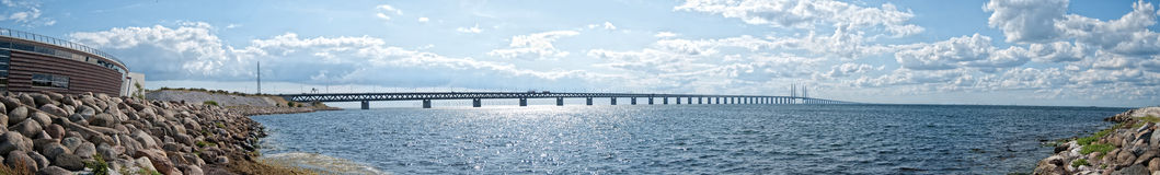 πανόραμα 02 oresundsbron Στοκ Φωτογραφία