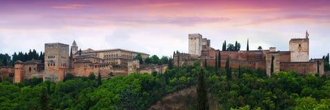 Πανόραμα Alhambra Γρανάδα Στοκ Φωτογραφίες