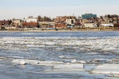 Πανόραμα Alton πέρα από το ποτάμι Μισισιπή Στοκ Εικόνες