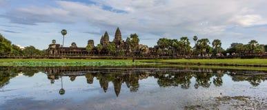 Πανόραμα Angkor Wat Στοκ φωτογραφία με δικαίωμα ελεύθερης χρήσης