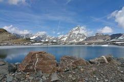 Πανόραμα Cervino Monte, Valle δ ` Aosta, Ιταλία Στοκ φωτογραφίες με δικαίωμα ελεύθερης χρήσης