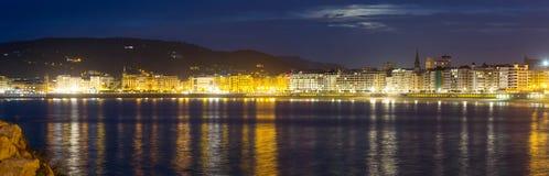 Πανόραμα Donistia Βασκική χώρα, Ισπανία Στοκ Εικόνες
