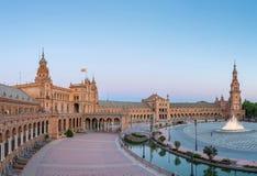 Πανόραμα Espana τετραγωνική Ισπανία Στοκ Φωτογραφίες