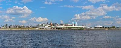 Πανόραμα Kazan Κρεμλίνο, Ρωσία Στοκ φωτογραφία με δικαίωμα ελεύθερης χρήσης