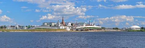 Πανόραμα Kazan Κρεμλίνο, Δημοκρατία της Ταταρίας, Ρωσία Στοκ εικόνα με δικαίωμα ελεύθερης χρήσης