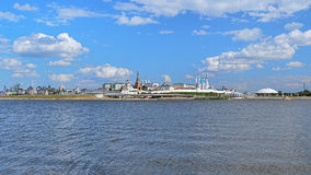 Πανόραμα Kazan Κρεμλίνο, Ρωσία Στοκ εικόνα με δικαίωμα ελεύθερης χρήσης