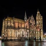 Πανόραμα Kosice καθεδρικών ναών του ST Elisabeth Στοκ Εικόνες