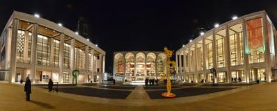 Πανόραμα Lincoln Center - πόλη της Νέας Υόρκης Στοκ φωτογραφία με δικαίωμα ελεύθερης χρήσης