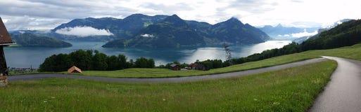 Πανόραμα Lucern Ελβετία Στοκ Εικόνες