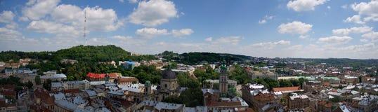Πανόραμα Lviv το καλοκαίρι Στοκ Εικόνες